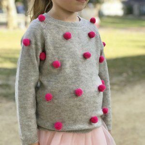 Doe a Dear Girls 100% Cashmere Gray Sweater